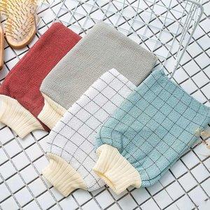 Назад Rub перчатка Утолщенных Полотенца ванны перчатка Strong Назад Rub Полотенце Mud руб Полотенце Двусторонний мультистиля Спиральные сетки WX9-1906