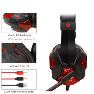 Soyto SY830 E-sports Headset Head-mounted Gaming Headphone Wire-controlled Wired Ps4 Computer Game Luminous Audio-visual Headset with Wheat