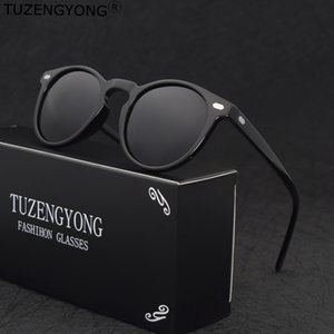 TUZENGYONG di marca progettista dell'annata Polarized Sunglasses For Men In viaggio unisex TR90 rotonda Sun che guida i vetri Eyewear Oculos