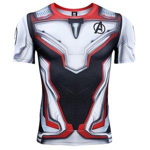 Avengers 4 Endgame Quantum War 3D Gedruckt T shirts Männer Compression Shirt Iron man Cosplay Kostüm Langarmshirts Für Männer