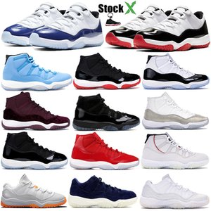 Platinum Tint Concord 45 prom night jordan 11s 11 Bred Cap and Gown Hombres mujeres Zapatillas de baloncesto Space Jam designer Sport Sneakers talla 7-13