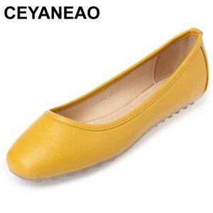 CEYANEAO 2019 nouvelles chaussures pour femmes printemps bas chaussures de sport occasionnels Flats Grande taille Bateau zapatos mujer MoccasinsE2028