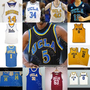 Custom UCLA Basketball Jersey NCAA College5 Baron Davis Johnson Miller Kiki Vandeweghe Walton Jaime Jaquez Jr. Cody Riley Tyger Campbell