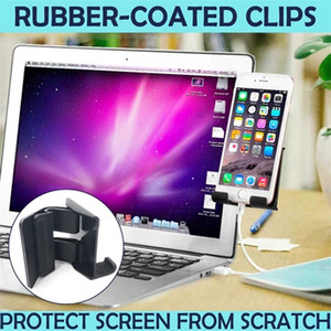 Cell Phone Stand Smart Notebook Screen Side Phone Holder Mounts Phone Clip for Universal Computer Display