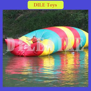 Envío gratis de puerta a puerta 7 m * 3 m agua inflable aire aire catapulta inflable salto bolsa de aire inflable bolsa de salto de agua para la venta
