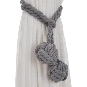 Tiebacks a mano Tiebacks legato a mano a mano Tiebacks a mano con corda ricamata a maglia