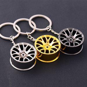 Métal Keychain voiture de moyeu de roue Auto Logos Porte-clés Réparation automobile Pièces de voitures Mini Pneu Roue Porte-clé 3 mini cooper couleur porte-clés