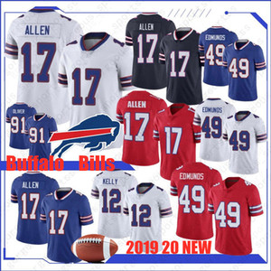 17 Josh Allen Buffalo Bill Jerseys 49 Tremaine Edmunds 12 Jim Kelly 95 Kyle Williams 34 Thurman Thomas 25 McCoy Watkins Dareus nova