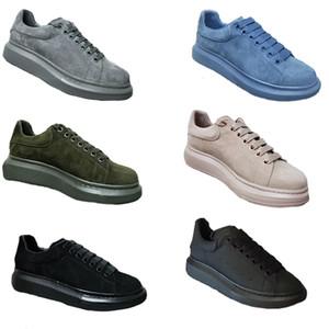 Yeni Platformu Sneaker Tasarımcı Kadınlar Eğitmenler% 100 Deri Süet Erkek Boy Ayakkabı Düz Casual Parti Düğün Ayakkabı SZ 4-12