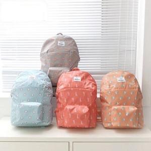 أكياس قابلة للطي العملية bankpack السفر النايلون ماء حقائب اليد متعددة الوظائف حقيبة كتف الطلاب