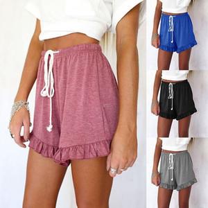Cortocircuitos de la manera de las mujeres de las nuevas mujeres pantalones cortos ocasionales Mujeres pantalón corto de 4 colores del tamaño S-3XL