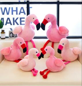 Flamingo Plush Toys Pink Flamingo Stuffed Dolls Stuffed Animal Toy Home Almofadas Almofada Presente de Natal 30CM decoração de casa FFA3486A