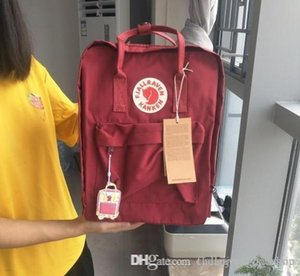Classic Bull Red Fjallraven Kanken Large Capacity Canvas Bags Waterproof Fashion Computer Bags 16L Sports Backpacks Outlet