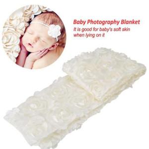 Новорожденный Роза искусственного меха Одеяло Корзина Стуффер Ковер заставок фотография Фотография Prop Инструменты