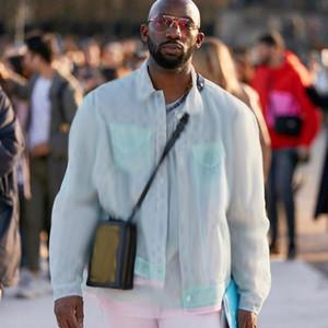 Meilleur jacquard Monogram maille Veste de mode haut de gamme Splice Hommes Femmes High Street Outwear Hip Hop HABILLEMENT Protection solaire HFYMJK302