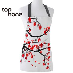 Home PageCasa Grembiule da cucina Red Cherry Blossoms Flower maniche Grembiuli Canovaccio stampato per Uomo Donna Bimbo casa pulizia Attrezzi