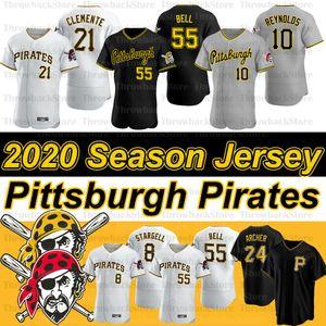 Pittsburgh Josh Bell Jersey Roberto Clemente 21 Melky Cabrera 53 Adam Frazier Francisco Cervelli Jameson Taillon 2020 Yeni Sezon Formalar