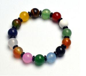 Duobao Bracelet de pierres précieuses naturelles Agate Oeil de tigre Pierre Dongling Jade Bracelet Mode