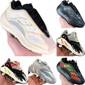 With Box 2020 Azael 700 V3 Static Reflective Kids Mesh Breathable Running Shoe Originals Kanye West 700 V2 Kids Buffer Rubber Sports Shoe