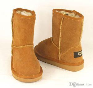 2020 G сапоги 5281 Классический короткий Ребенок снег зима ботинок девушки мальчика ботинок детей сапоги коровьей зима ботинок размер EU: 25-34 Свободный ботинок перевозкы груза