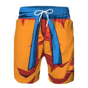 Son Goku Cosplay Praia Verão Calças Board Shorts para Homens Boy Crianças Swim Trunks Swimwear Wear