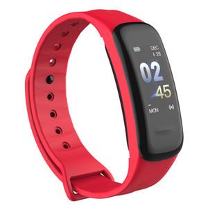 Academia perseguidor inteligente Pulseira C1Plus Cor Pressão Arterial Tela Heart Rate Monitor inteligente Banda C1S desportivos relógio Android
