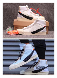 Conan Off White X Nike Blazer Mid OW 2019 de alta qualidade mais recente marca Blazer Mid Grim Reaper Black Men s tênis de basquete All Hallows Eve calçados esportivos Designer
