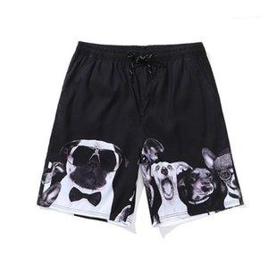 3D печати шорты брюки мода Женская летняя одежда свободные шнурок легкий расслабленный повседневная одежда пара собак