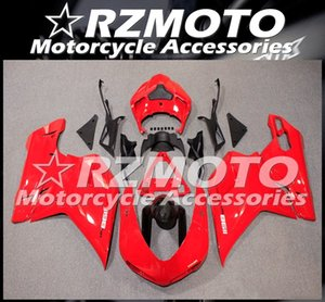 Injection Mold New ABS Fairings set Fit For Ducati 848 1098 1198 1098s 1098R EVO 2007 2008 2009 2010 2011 2012 Free Custom Red