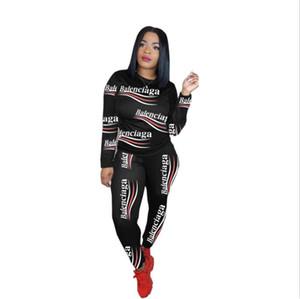 Designer donne vestiti due set pezzi insieme delle 2 parti delle donne sudore tute da jogging più il formato vestito di sport morbido a maniche lunghe tuta sportivo