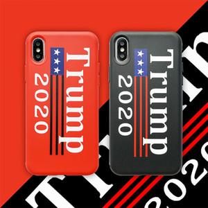 Popüler Trump Iphone XS MAX XR 8 için 2020 Cep Telefonu Kol Siyah Kırmızı Renk TPU Cep Telefonu Kılıf Parti Favor Artı 6cy E1