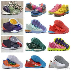Alta Qualidade Kyrie 2 5 6 Pré Calor Grande Sapatas roxas Mulheres Mens Basketball Para baratos Venda 5S Irving 6s Sneakers Desporto Size36-46