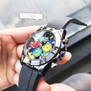Luxury Mens Watch RO Black Dial Automatic Mechanical Movement 40mm Rubber Strap Men watch