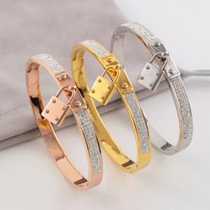 Venta caliente de acero inoxidable Classic Brand lock Pulseras Brazaletes amor de alta calidad H pulsera para las mujeres Pulseiras Feminina