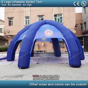 6 gambe 8 m diametro blu gonfiabile spider tenda grande tenda gonfiabile partito eventi all'aperto copertura gonfiabile tenda cupola tenda