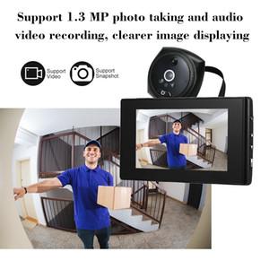 Video Kapı Zili Kapı Görüntüleyici Göz Kapı Çan Telefonu 1.3MP Peephole Kamera 4.3 inç Monitör PIR Ev Güvenliği için Hareket Algılama