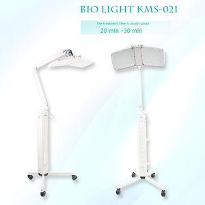 Nova chegada levou 120mW de alta potência Floor Standing Professional pdt bio-light máquina de terapia de luz vermelha + azul light + terapia de luz infravermelha