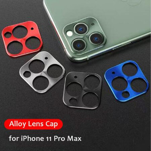 Metal Alloy Camera Lens Full Screens Protector Case Protective Film Cover for iPhone 11 Pro Max X XS XR 7 8 plus with retail box