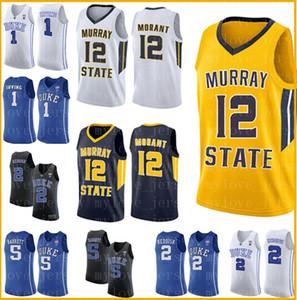NCAA Murray State Racers 12 Ja Morant Jersey Duke 1 Zion Williamson bleu College __gVirt_NP_NNS_NNPS<__ maillots de basket-ball