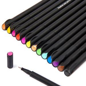 12/24/36 cor bela linha de gancho caneta 0.4mm caneta agulha caneta de fibra em quadrinhos pintados à mão desenho grafite nota marca arte guache escova