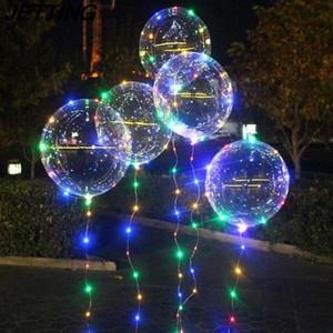 200 компл. 18 дюймов световой светодиодный шар 3 м LED Air bobo Balloon String Lights круглый пузырь гелиевые шары детские игрушки
