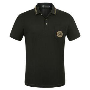 2020 Luxus-Europa Paris Patchwork Männer-T-Shirt-Mode-Männer Designer-T-Shirt Casual Men Kleidung Meduse Cotton Tee Luxus-Polo