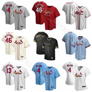 New 2020 Baseball 48 Harrison Bader Jersey 19 Edman 18 Carlos Martinez 46 Paul Goldschmidt 27 Brett Cecil Flexbasis kühle niedriges Blau Grau