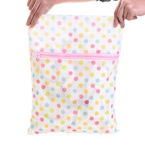 30 * 40cm Imprimir Lavandaria saco de roupa máquina de lavar roupa Lavandaria Bra Lingerie malha Wash Net Bag Pouch cesto de lavagem tratamento de roupa Sacos DBC DH0962