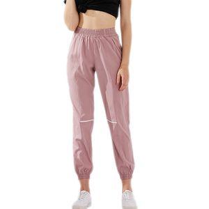 LU-9 Mulheres Yoga Calças Yoga leggings lose Gaving Ladies Desporto usar exercício físico Raparigas leggings Roupas de ginástica