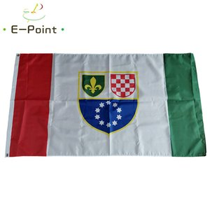 History Flag of the Federation of Bosnia and Herzegovina 1996-2007 3*5ft (90cm*150cm) Polyester flag Banner decoration