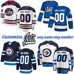 Özel erkek çocuk kadın Winnipeg Jetseys 81 Connor 8 Trouba 37 Hellebuyck 7 TKACHUK 13 Tanev Herhangi bir numara Herhangi bir isim Hokey Jersey