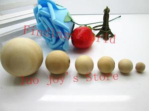 Perline di legno rotonde di colore naturale all'ingrosso-all'ingrosso Perline distanziatori in legno 8/10/12/12/14/16/18/20/25/30/40 mm Per la creazione di gioielli di moda (B00103)