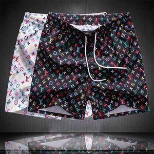Men's designer summer shorts pants fashion casual beach pants printed drawstring shorts loose men's luxury sweatpants