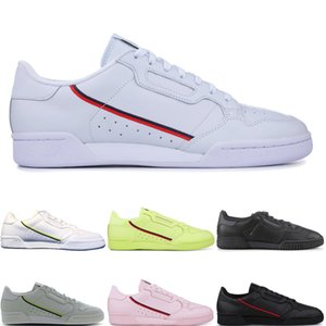 Adidas CONTINENTAL 80 Calabasas Vente chaude Continental 80 Calabasas Powerphase Chaussures Casual Kanye West Aero bleu Core noir OG blanc Designer Hommes femmes des chaussures